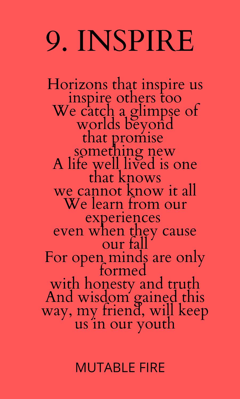 9. Inspire